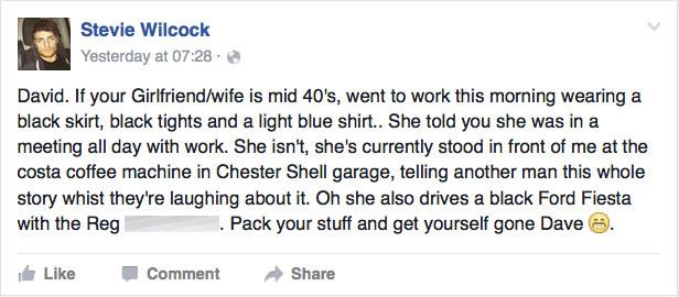 davie facebook infiel