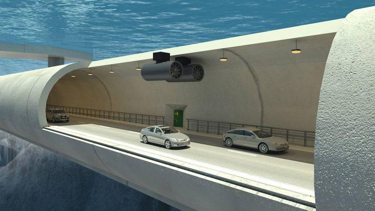 Túnel flotante en Noruega
