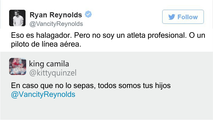 tweet Ryan Reynolds