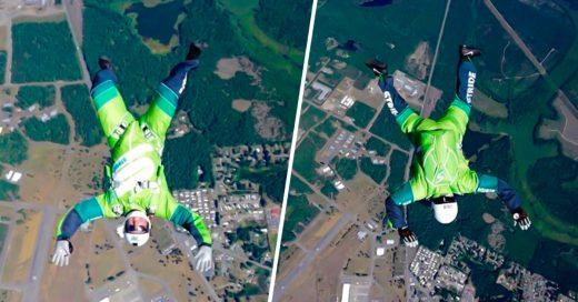 COVER Este veterano hace Historia Es el primer hombre en saltar desde un avión sin paracaídas