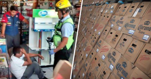 COVER Ladrones atan a los empleados, dejan el dinero y se llevan 324 cartones de Cerveza