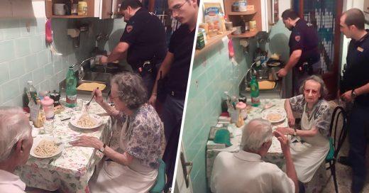 COVER Los policías que cocinaron pasta a una pareja de ancianos tras oírles llorar