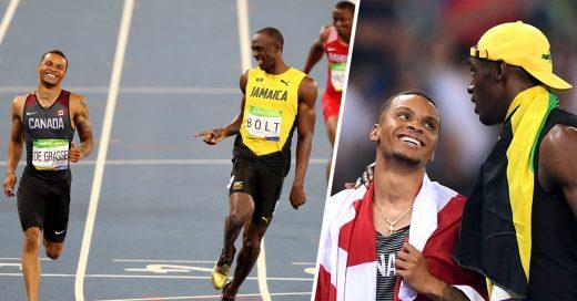 COVER Usain Bolt Andre De Grasse