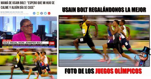 15 Memes que generó la Épica sonrisa de Usain Bolt mientras ganaba el Oro en los 100 metros