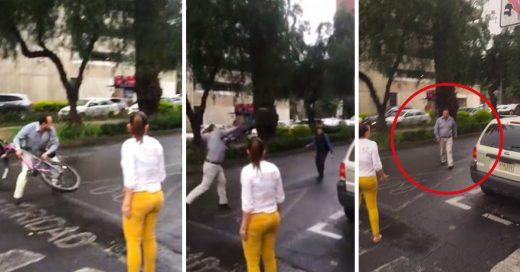 ¡Otra vez en México!: Pareja agrede y humilla a un ciclista; los apodan #LordDodge y #LadyDodge