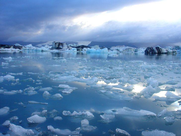 Glaciar que se derrite