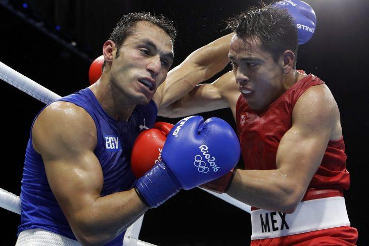Pelea de box en los olímpicos
