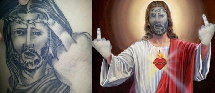 jesus en tatuaje