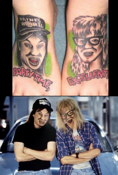el mundo de wayne tatuajes