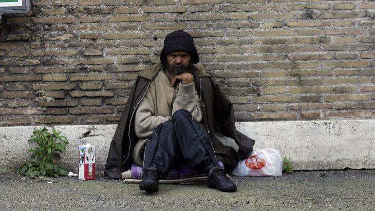 Indigente en la calle