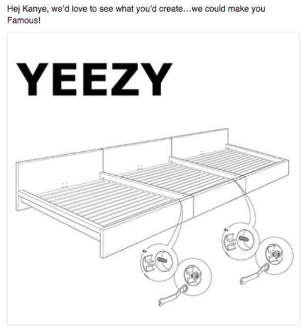 Mensaje de IKEA a Kanye West