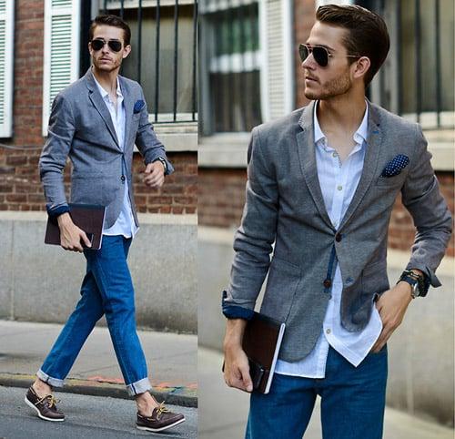 camisa saco y pantalon mexzclilla