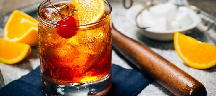 El trago Old Fashioned