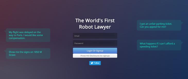 El Robot Abogado en Londres
