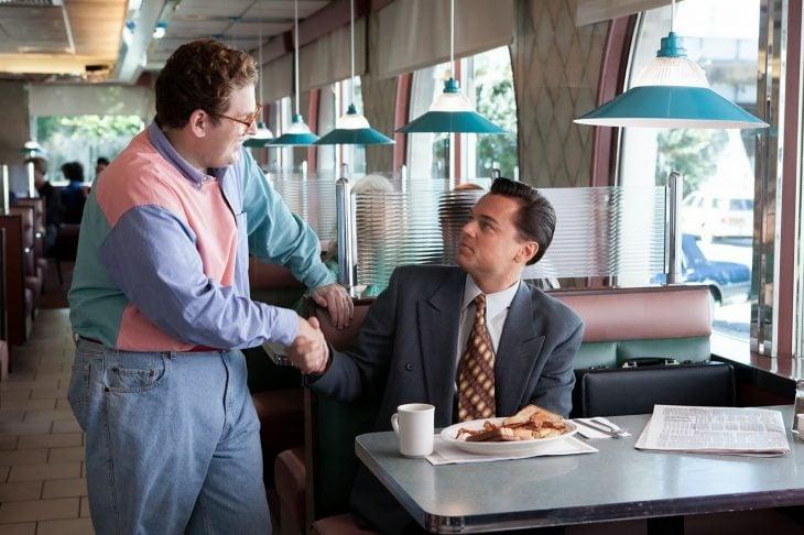 Leonardo DiCaprio y Jonah Hill