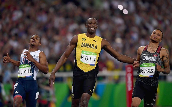 Usain Bolt en semifinales de Río 2016
