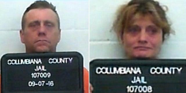 pareja arrestada