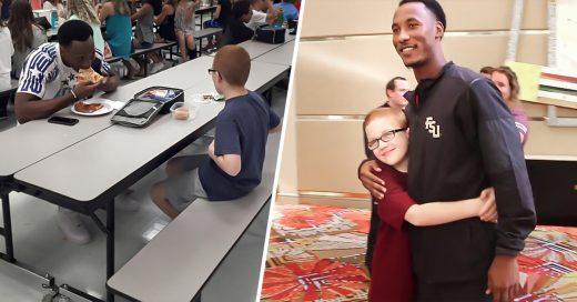COVER Recuerdan al atleta que almorzó con el niño autista Le acaba de dar