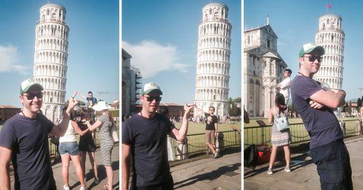COVER  Un tipo gigante trolea a los turistas y los usa de fondo