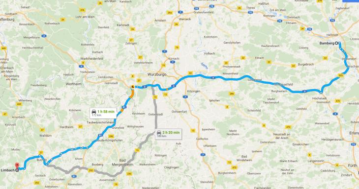 mapa camino aleman