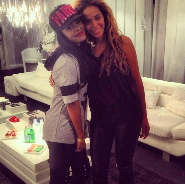 Beyoncé en el camerino