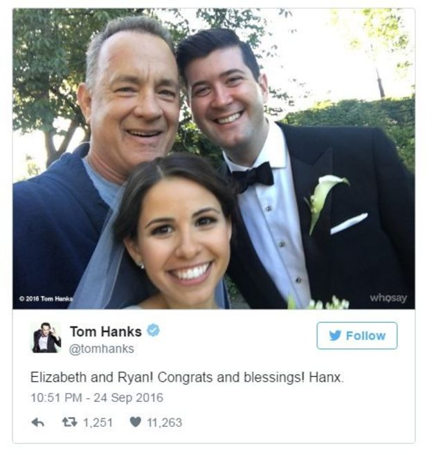 Tom Hanks con novios