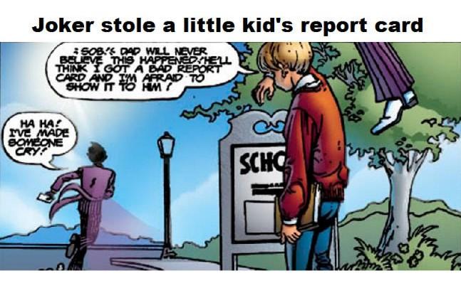 joker molesto a niño