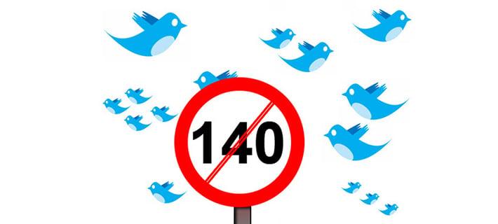 Límite de 140 caracteres cambiará