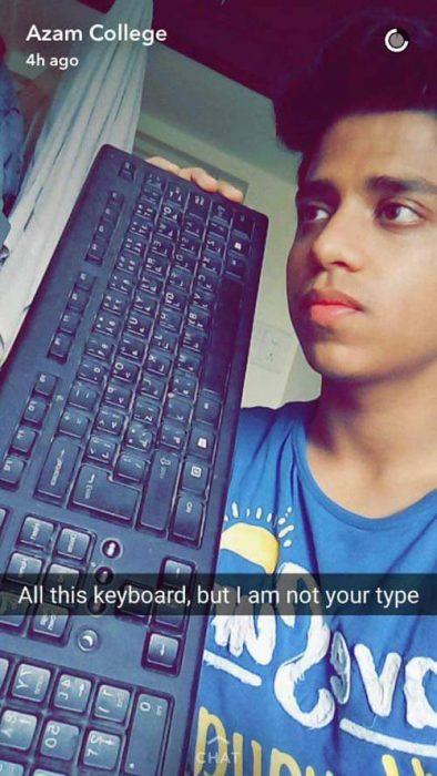 teclado snapchat