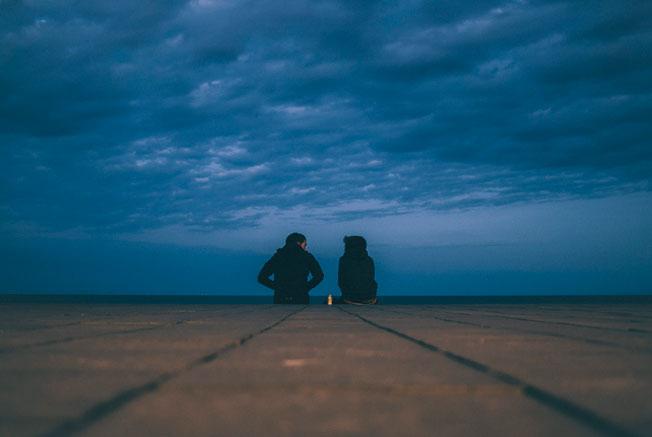 pareja en calle