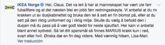 post de ikea en facebook