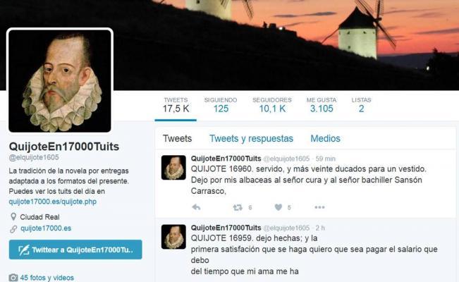 Don Quijote en Twitter