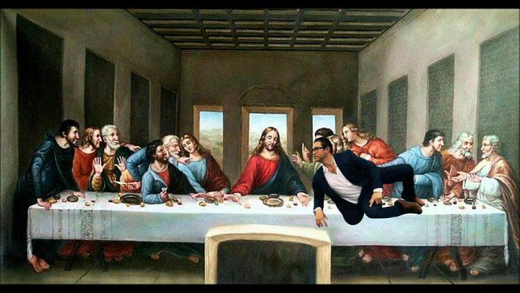 ultima cena hombre photoshop