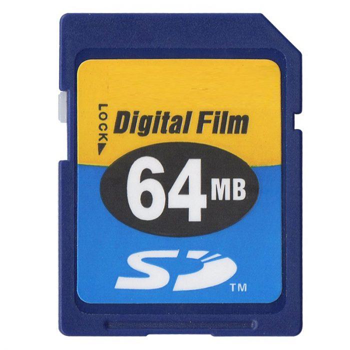 Primera tarjeta SD de 64 mb