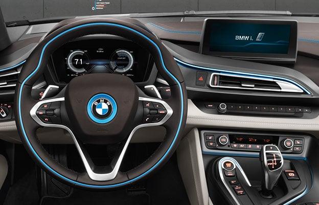 Tablero del BMW i8