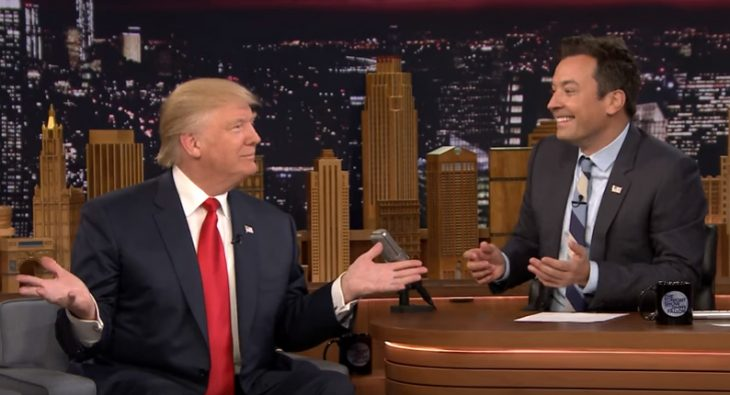 Trump en programa de Jimmy Fallon