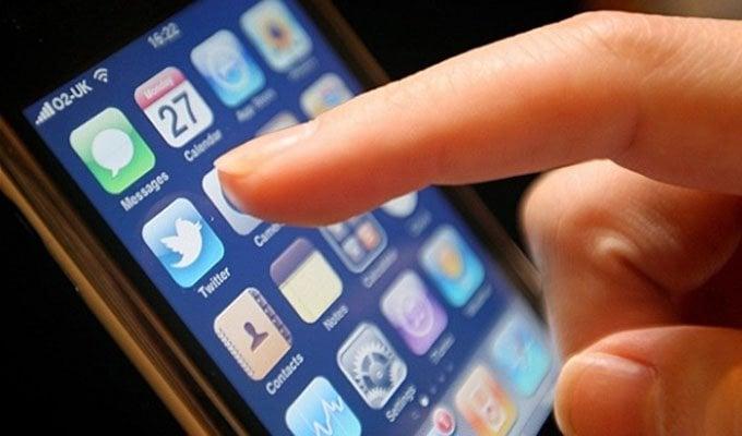 Aplicación de Twitter en celular