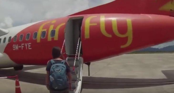 A punto de abordar un vuelo