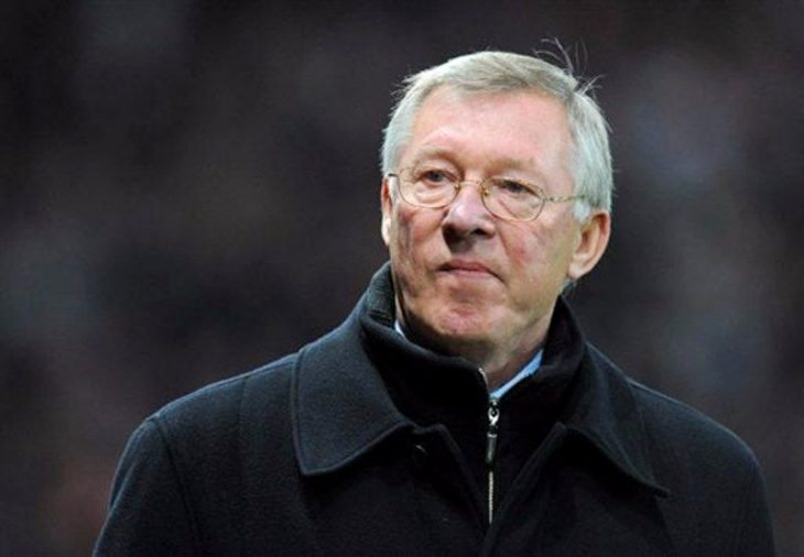 Alex Ferguson con cara de enojado