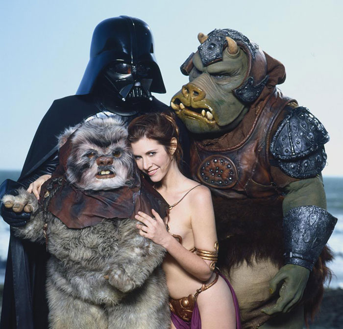 carrie fisher con mostros