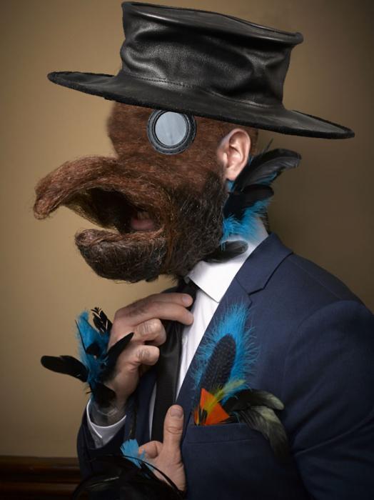 Hombre barba de pájaro en Batalla de Photoshop