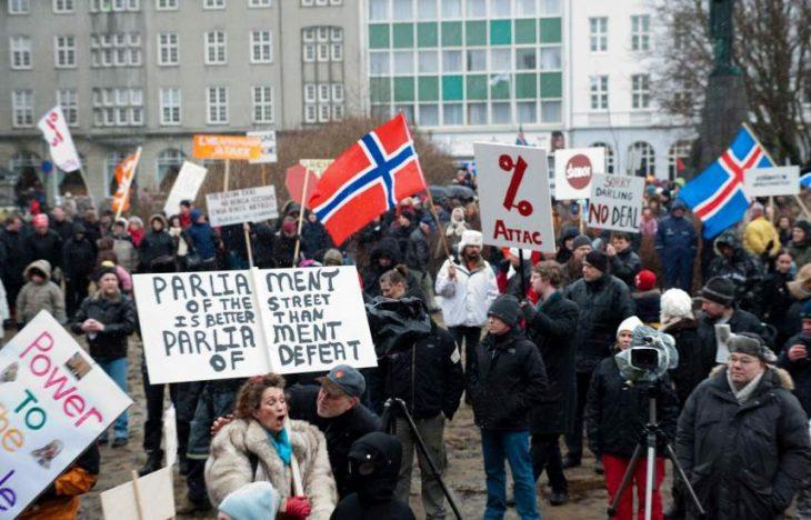 islandia protestas