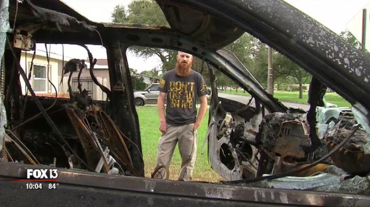 camioneta quemada samsung