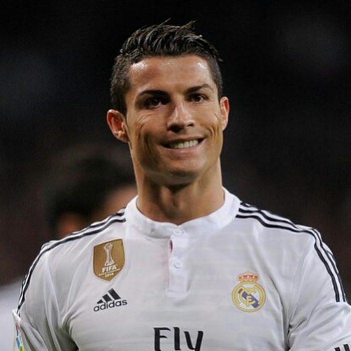 Cristiano Ronaldo sonriente