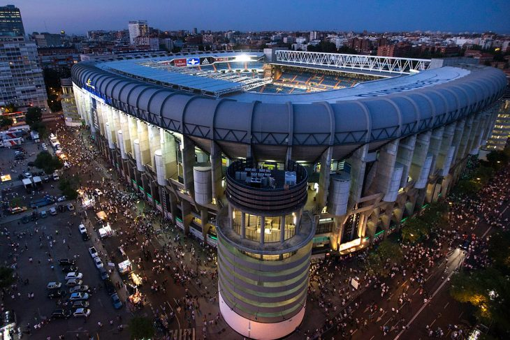 Estadio Santiago Bernabéu del Real Madrid