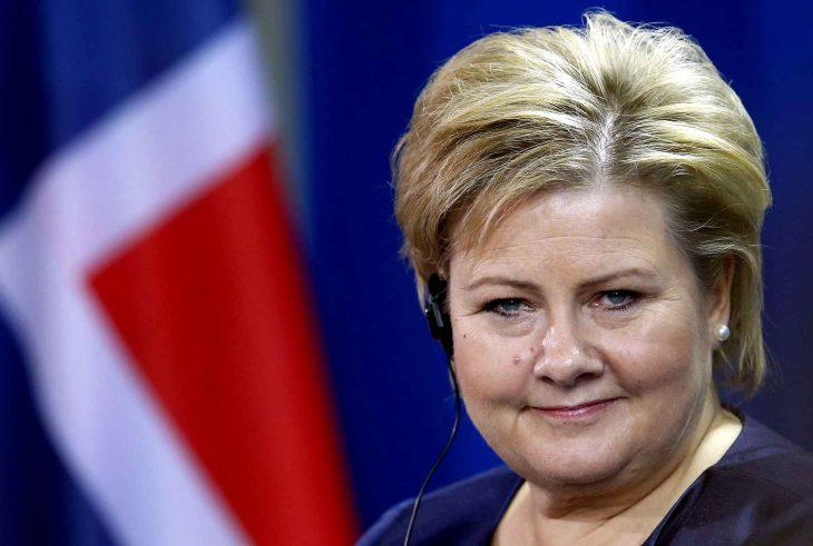 Erna Solberg, primer ministro de Noruega