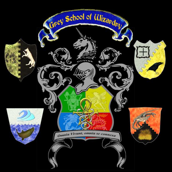 Escudo de la Escuela Grey de Hechicería