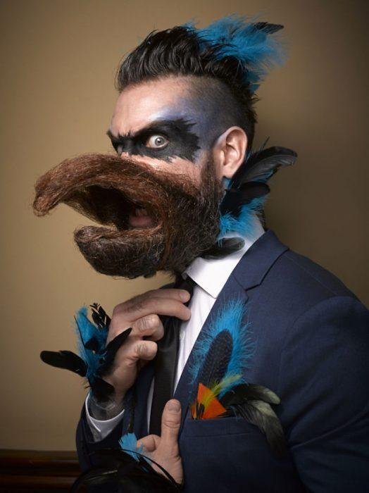 Participante en el Concurso Nacional de Barba y Bigote