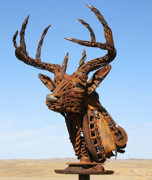venado escultura