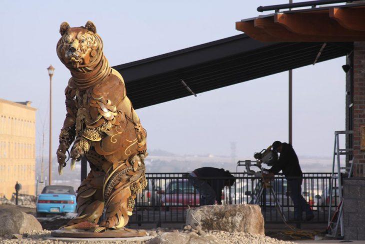 oso escultura